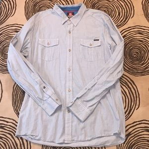 Men's quiksilver xl long sleeve light blue